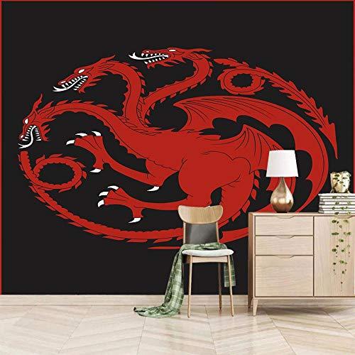 3d Vintage Fototapete Drachen Wandbilder Wohnzimmer Fernseher Sofa Hintergrund Tapete Moderne Wohnkultur Zimmer/Größe:450X300cm
