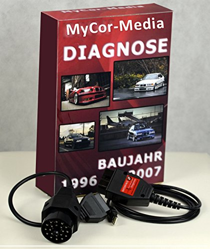 MyCor-Media OBD2 Diagnose Set für BMW komp. zu INPA NCSEXPERT Tool32 Rheingold und Software