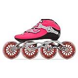 Bont Skates   Inline Speed Skating Racing Package   Luna Skate Boot + 2PF 6061 Frame + Elemental 110mm Wheels + ABEC5 Bearings   Carbon Fiber Composite Fully Heat Moldable Vegan (Pink, 38/6)
