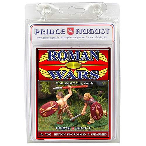 Prince August Hobby - Molde de fundición para espadachines británicos y Spearmen #2 - Roman wars PA7002