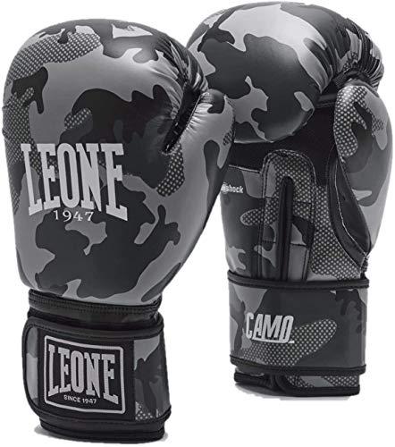 Leone1947 Boxhandschuhe Mimetic Camo Grau - Boxhandschuhe Boxen Kickboxen Sparring Muay Thai (12 Unzen)