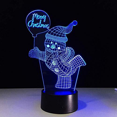 LIX-XYD Umgebungslicht, Panda Chinese Knot Barbell Frohe Weihnachten Football 7 Farbwechsel Nachtlicht-Nachtlicht-Ausgangsdekor-Panda Stimmungslicht (Color : Merry Christmas)