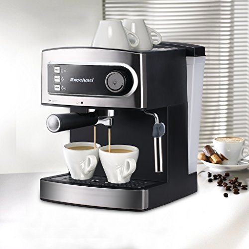 Excelvan 15 Bar Pump Espresso Italian Style Coffee Machine - Hot Drinks, Cappuccino & Coffee Maker 850W