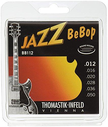 Thomastik Cuerdas para Guitarra Eléctrica Jazz BeBop niquel Round Wound juego BB112...