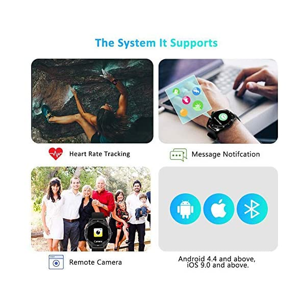 BYTTRON Reloj Inteligente, Rastreador de Ejercicios con Pantalla táctil HD Redondo de Seguimiento del Ritmo cardíaco… 4
