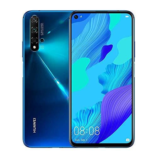 HUAWEI Nova 5T Dual-SIM Crush Blue Android 9.1 Smartphone 48 MP KI Quad-Kamera