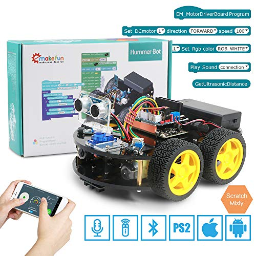 Emakefun Smart Robot Car Kit, Robotics kit for Arduino IDE,Robot Building kit STEAM Education Toy,Support Scratch DIY Coding for Kids Teens Adults