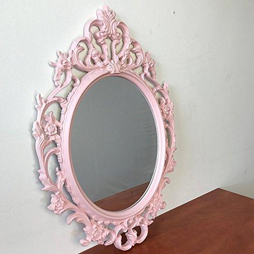 Kingston Home Spiegel Wandspiegel Antik-Stil Barock 84x57cm Hängespiegel Flurspiegel Pink