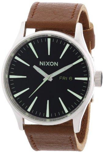 Nixon - A1051037-00 - Montre Homme - Quartz Analogique - Bracelet Cuir Marron