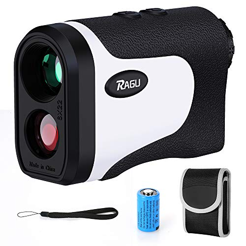 RAGU Golf Rangefinder, DZ600AG Laser Range Finder with 656 Yards Range, 6X Magnification, Flag Lock, Slope Measurement, and Battery