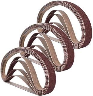 25 mm x 762 mm slipbälten, 3 var och en av 60/80/100/120/240 korn, slipverktyg för träbearbetning, metallpolering, 15-pack...