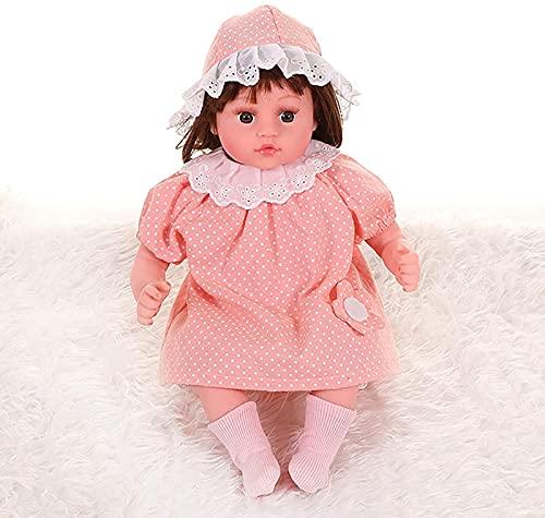 Muñeca de Renacimiento de Cuerpo Suave Realista, Juguete para niña, niño, 17.7 Pulgadas, Tres Prendas Gratis, cumpleaños/año Nuevo, A