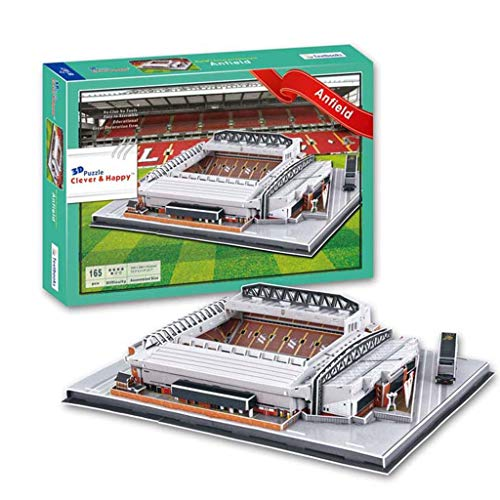 Mankvis 3D-Puzzle Anfield Stadium Model, Liverpool Football Club Haupt Venue Modell DIY der Kinder Puzzle Spielzeug Fans