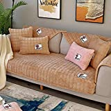 ENLAZY Winter Bestickt Patch Flanell solide Sofakissen Hund Couch Cover Protector/Katze Couch...