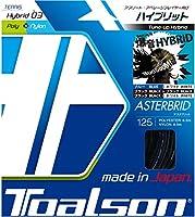 トアルソン TOALSON テニスガット 単張り アスタブリッド(ASTERBRID) 125 ブラック×ブラック 7492510K ブラック×ブラック 125