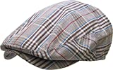 KBM-215 DBR MIX L/XL Plaid Newsboy Ivy Hats Gatsby Ascot Cabbie Spring Summer Cap