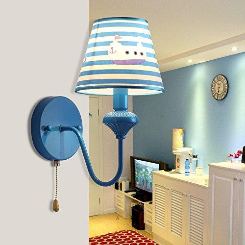 JJZHG wandlamp wandlamp waterdichte wandverlichting kinderkamer wandlamp lief warme prinses kamer bedlampje creatieve jongens slaapkamer met 5 W witte LED-lichtbron wandlamp