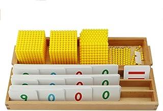 Montessori decimal banking game, kindergarten early education beaded toys Decimal System w/Trays