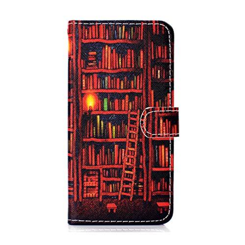Bumina iPhone SE 2020 Hoesje Leer, Schokbestendig Premium Flip Wallet Hoesje met [Kickstand] [Kaartsleuven] Magnetische Sluiting Notebook Schokabsorberende Beschermende Hoesje voor iPhone SE 2020 iPhone SE 2020/iPhone 7 iPhone 8 Boekenplank