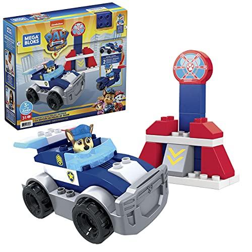 Mega Bloks Patrulla Canina Crucero de policía de Chase Bloques de construcción con personajes, juguete para niños +1 año, Mattel GYJ00