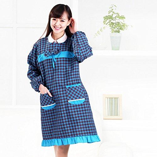 DXG&FX Keuken schorten met mouwen Anti-kleding overall Aprons lange mouwen trainingspak Schort met mouwen