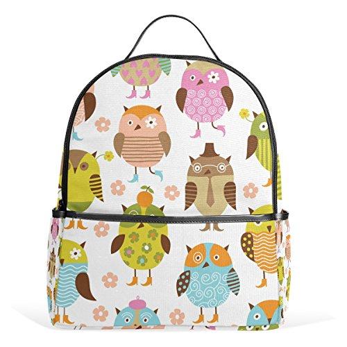 Bennigiry Cute Owls Kids School Backpacks Bookbags for Boys Girls Teens
