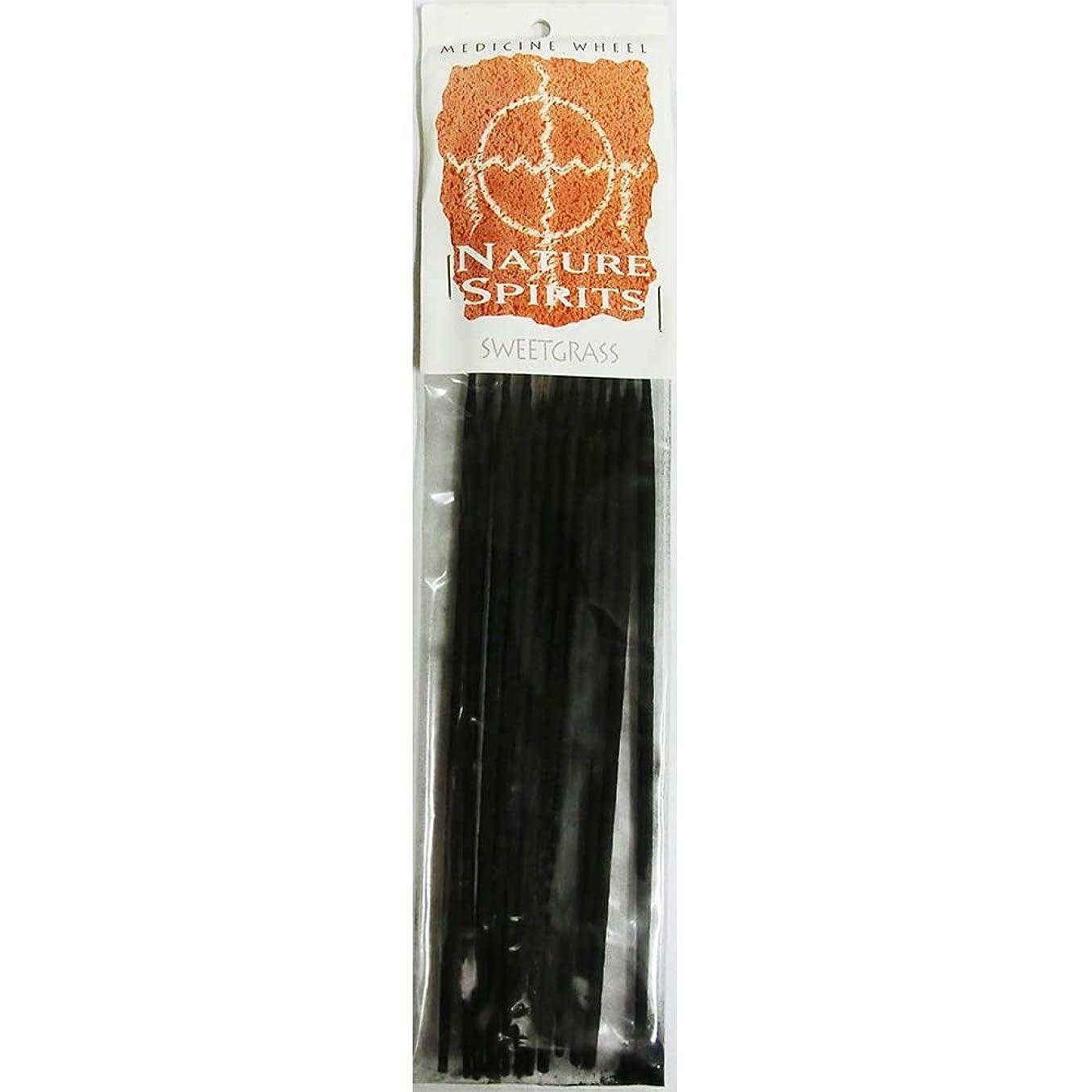 解く罰するプラスチックお香 Medicine Wheel Nature Spirit Sweetgrass インセンス 魔法のお香