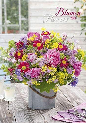 Blumen 2020 - Flowers - Bildkalender (24 x 34) - Blumenkalender - Wandkalender