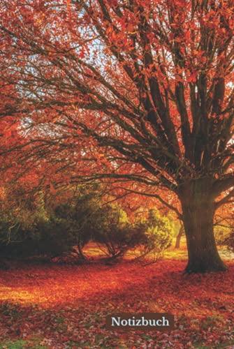 Notizbuch: Herbst – Gebundene ausgabe - Wunderschönes Tagebuch – Gefüttertes Notizbuch – 108 Seiten – 15,24 x 22,86 cm – 6 x 9 – Geschenkideen – Schönes Foto