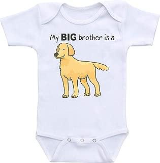 My Big Brother is a Golden Retriever Funny Onesie Romper Bodysuit