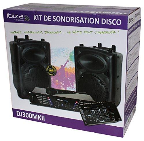 Ibiza DJ300MKII Lautsprecher-Set, Schwarz