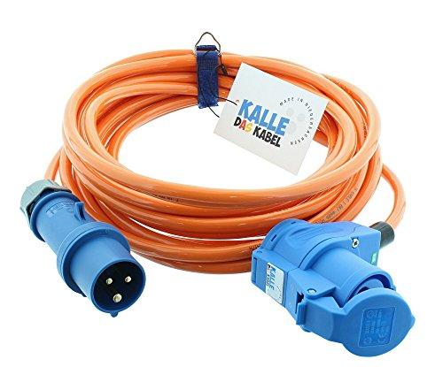 CEE Verlängerung KALLE Blue SIGNAL 2,5mm² Winkel Industrie Bau Boot Womo Camping Vollpur-Premium-Leitung mit 15 Jahren Garantie 10...