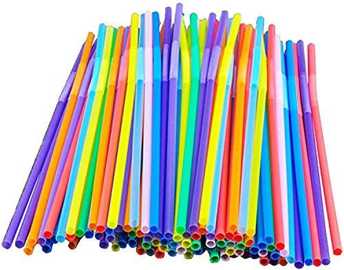 GYW Pajas De Beber Multicolores De 100s, Pajitas De Colores, Varillas De Bebidas Flexibles para Adultos, Cumpleaños Infantiles, Boda, Fiesta, Cóctel