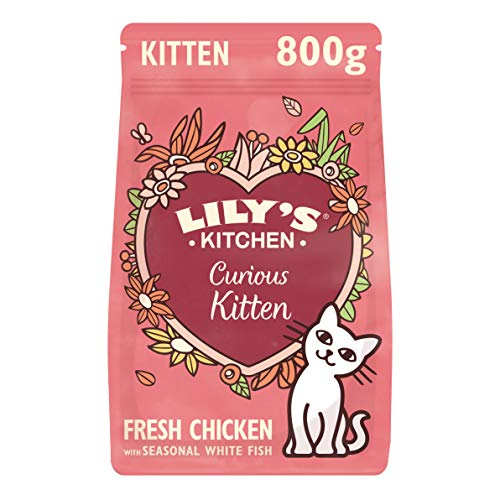 Lily's Kitchen Kitten Recipe with Chicken - Complete Natural Cat Dry Food...