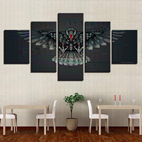 TBDZPS 5 Paneles HD Képek Nyomtatása Moduláris Vászon Plakát Ábra...