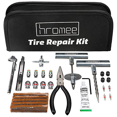 Hromee 56 Pieces Tire Repair Tools Kit for Car, Trucks,...
