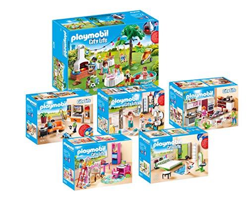 Playmobil 6-teiliges Möbelset für das Wohnhaus 9266 oder für das Puppenhaus 70205: 9267 9268 9269 9270 9271 9272
