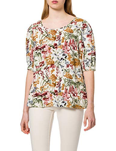 Only ONLKARMA Life 2/4 AOP Top WVN Camiseta, Cloud Dancer/AOP:Blurry Flower, Large...