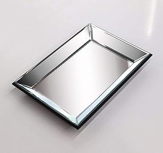 Jewelry Accessories Mirror Tray, Perfume Vanity Silver Mirror Tray Dresser Tray Ornate Tray Mirror Decorative Tray Organiz...
