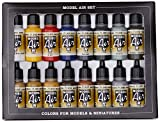Vallejo Model Air Set de couleurs de peinture acrylique pour air brush – Couleurs assorties (Lot de 16)