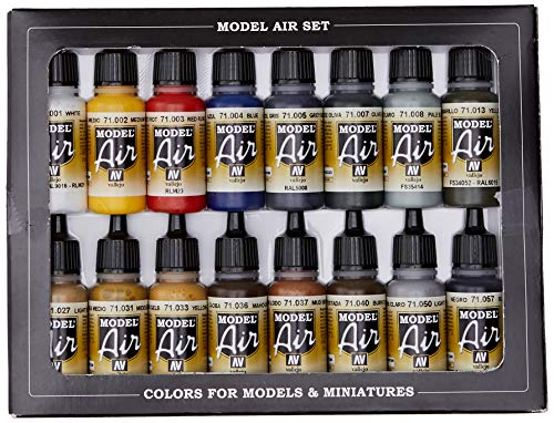 Vallejo Model Air Set - Set de pintura acrílica (16 unidades), multicolor