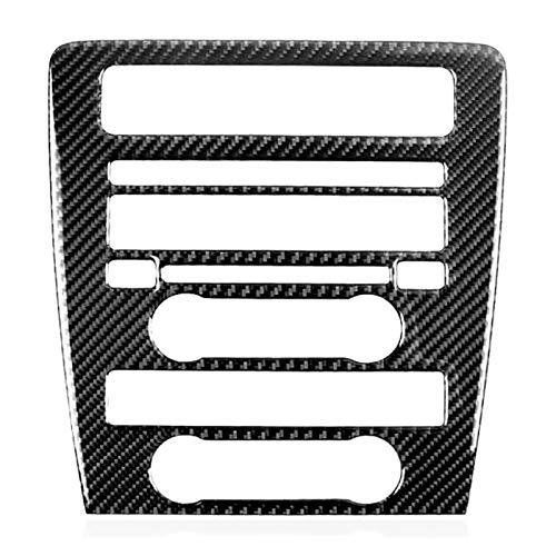 zhuzhu Pegatinas de Fibra de Carbono, Control Central CD Panel Cubierta Molding, Pegatinas Interior del automóvil FIT FOR Ford Mustang 2009-2013,1 PCS (Color Name : Black)