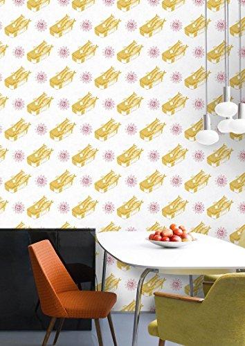 Sardines geel behang