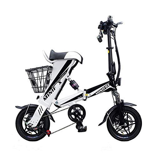 Shell-Tell Bicicleta eléctrica, bicicletas cómodas, montar en refuerzo, montar en bicicleta eléctrica, montar en Purehuman (blanco)