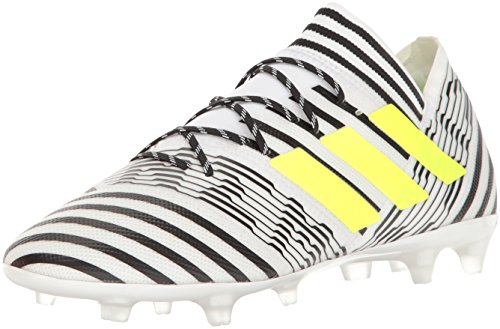 adidas Men's Nemeziz 17.2 FG Soccer Shoe, White/Solar Yellow/Black, (10.5 M US)