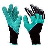 Pretop Wasserdicht Gartenhandschuhe [1 Paar] langlebig stichsichere Safe Gartenarbeit Handschuhe mit ABS-Kunststoff Krallen für Haushalt und Garten Werkzeug Handschuhe
