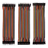 FULARR® 120Pcs Premium 20cm Dupont Cable, Breadboard Jumper Wire Kit, 40 Pines Macho-Macho, 40 Pines Hembra-Hembra, 40 Pines Macho-Hembra Dupont Puente Cables, para Arduino Raspberry Pi