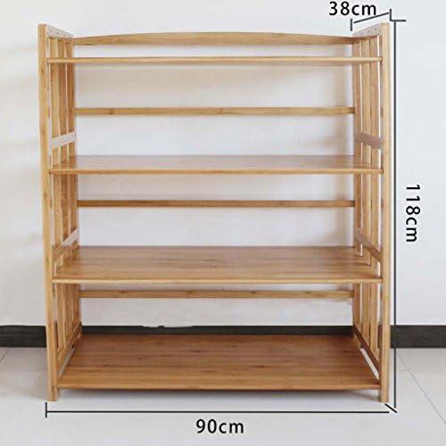 MENA Home Mikrowellenofen Racks Bambus-Topf-Racks Aufbewahrungsregale Küche-Racks Boden-Mikrowellen-Racks Ofen-Regale (Größe   L)