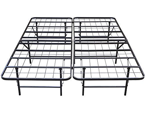 Yaheetech Platform Metal Bed Frame/Mattress Foundation- in Twin, Queen, King Queen