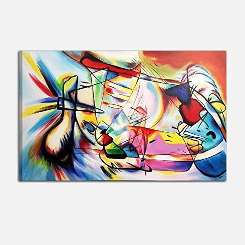 I Colori del Caribe Quadri Astratti Dipinti A Mano su Tela Omaggio A Kandinsky Quadro Astratto COLORATO Dipinto A Mano su Tela Alta QUALITA' Made in Italy -